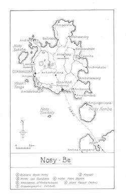 Nosy-Be: Original map artwork for the Bradt Madagascar guide (1st ed)
