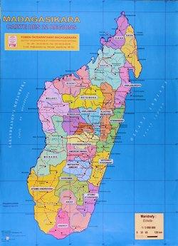 Madagasikara: Carte des 22 Régions
