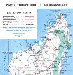 Carte Touristique de Madagasikara: Ile des Contrastes