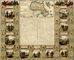 Carte de L'Ile de Madagascar: dite aujourd'hui L'Ile Daufine