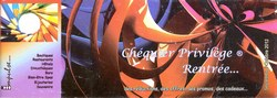 Chéquier Privilège: Rentrée: Septembre/Octobre 2012