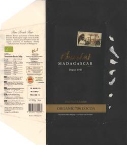 Chocolat Madagascar: Fine Dark Chocolate: Organic 70% Cocoa