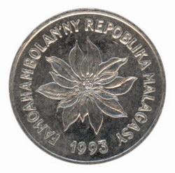 1 Malagasy Franc Coin: (1 Iraimbilanja)