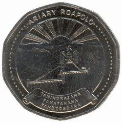 20 Ariary Coin: (100 Malagasy Francs)