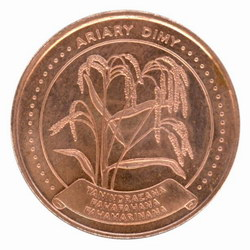 5 Ariary Coin: (25 Malagasy Francs)