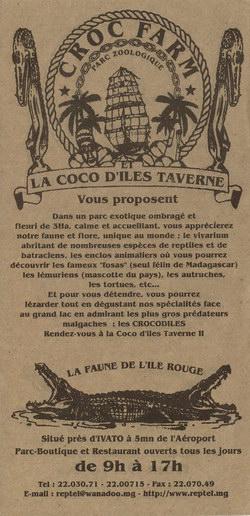 Croc Farm Leaflet