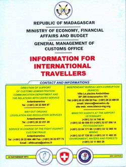 Information for International Travellers / Informations pour les Voyageurs Internationaux: Republic of Madagascar / Republique de Madagascar