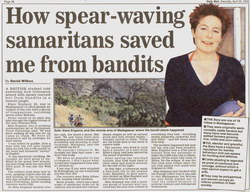 How Spear-Waving Samaritans Saved me from Bandits: Daily Mail Article (Saturday 20 April 2002)