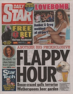 Daily Star: Thursday, August 1, 2019