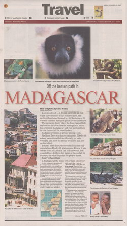 Off the beaten path in Madagascar: Deseret Morning News Travel supplement, Sunday November 25, 2007