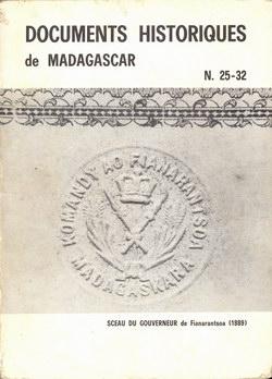 Documents Historiques de Madagascar: N. 25-32