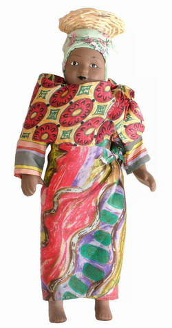 Porcelain Doll in Traditional Malagasy Costume: 'Dolls of the World' Collection