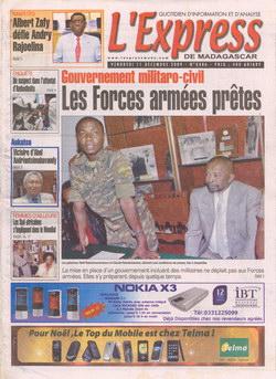 L'Express de Madagascar: No. 4486 (Vendredi 11 Décembre 2009)