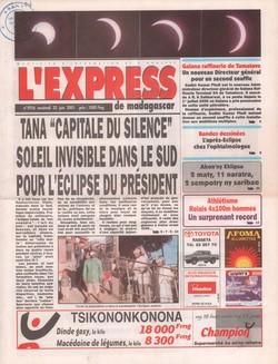 L'Express de Madagascar: No. 1916 (vendredi 22 juin 2001)