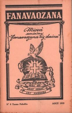 Ny Gazety Fanavaozana: No. 8 Taona Fahafito: Août 1959