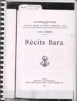 Récits Bara