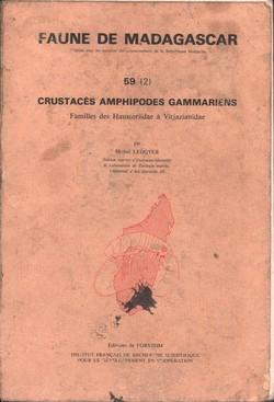 Faune de Madagascar: 59 (2): Crustacés Amphipodes Gammariens: Familles des Haustoriidae ? Vitjazianidae
