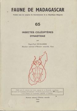 Faune de Madagascar: 65: Insectes Coléoptères, Dynastidae