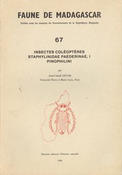 Faune de Madagascar: 67: Insectes Coléoptères, Staphylinidae Paederinae, I Pinophilni