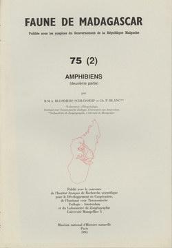 Faune de Madagascar: 75 (2): Amphibiens (deuxi?me partie)