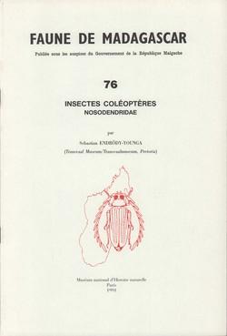 Faune de Madagascar: 76: Insectes: Coléoptères: Nosodendridae