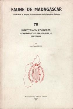 Faune de Madagascar: 79: Insectes Coléoptères: Staphylinidae Paederinae, II Paederini