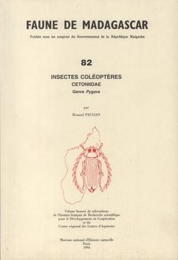 Faune de Madagascar: 82: Insectes Coléoptères: Cetoniidae: Genre Pygora