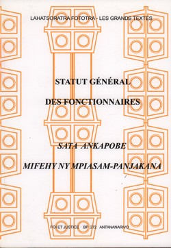 Statut Général des Fonctionnaires / Sata Aknapobe Mifehy ny Mpiasam-panjakana