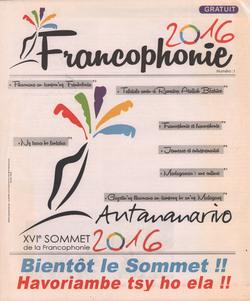 Francophonie 2016: Numéro 1