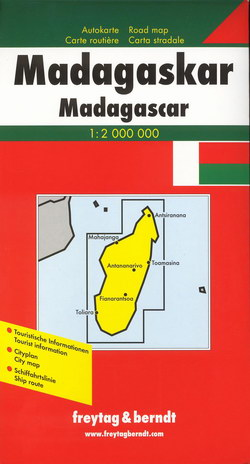 Madagaskar / Madagascar: Autokarte / Road Map / Carte routière / Carta stradale
