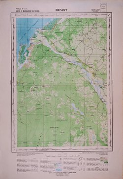 Befasy: Carte de Madagascar au 1:100000 - Feuille E51
