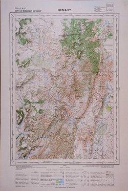 Benahy: Carte de Madagascar au 1:100000 - Feuille H57