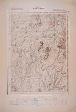 Fenoarivo: Carte de Madagascar au 1:100000 - Feuille L54