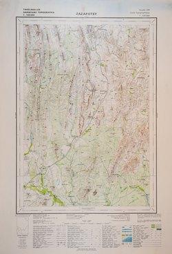 Zazafotsy: Feuille L55; Carte Topographique au 1:100000