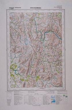 Ankaramena: Feuille M54; Carte Topographique au 1:100000