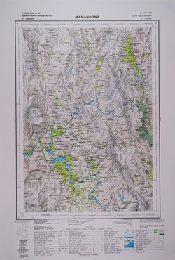 Carte Topographique De Madagascar.Manandona Feuille N50 Carte Topographique Au 1 100000