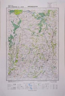 Antanifotsy: Feuille O49; Carte Topographique au 1:100000