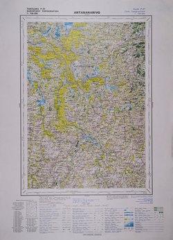 Antananarivo: Feuille P47; Carte Topographique au 1:100000