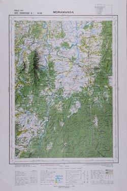 Carte Topographique De Madagascar.Moramanga Feuille R47 Carte Topographique Au 1 100000