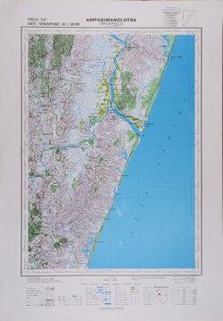 Carte Topographique De Madagascar.Ampasimanolotra Brickaville Feuille U47 Carte