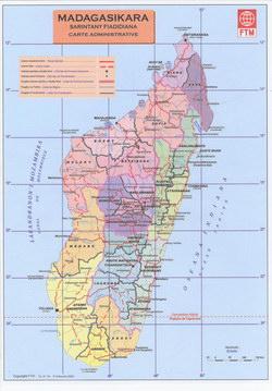 Madagasikara: Sarintany Fiadidiana: Carte Administrative