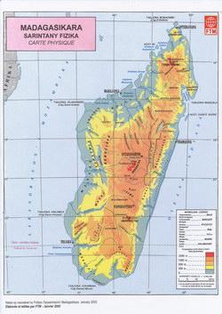 Madagasikara: Sarintany Fizika: Carte Physique