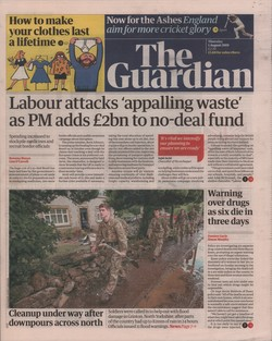 The Guardian: Thursday 1 August 2019