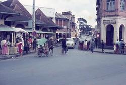 Pousse-pousses at ny Zoma market: Lalana Escande, Antananarivo