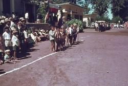 Cub Scouts parade: Main square, Soavinandriana