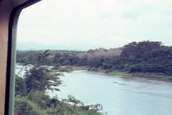 Waterway alongside railway near Tamatave