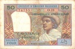 Ariary Folo / 50 Francs