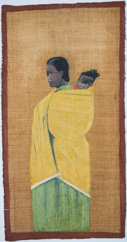 Woman Carrying a Child in her Lamba