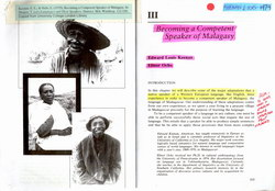 Becoming a Competent Speaker of Malagasy