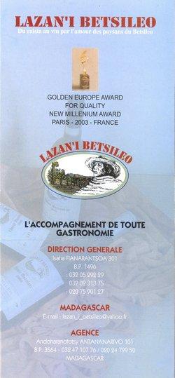 Lazan'i Betsileo: Du raisin au vin par l'amour des paysans du Betsileo